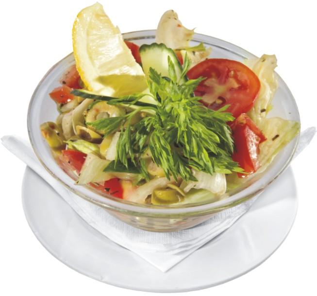 37. Friss szezonális olivaolajos saláta